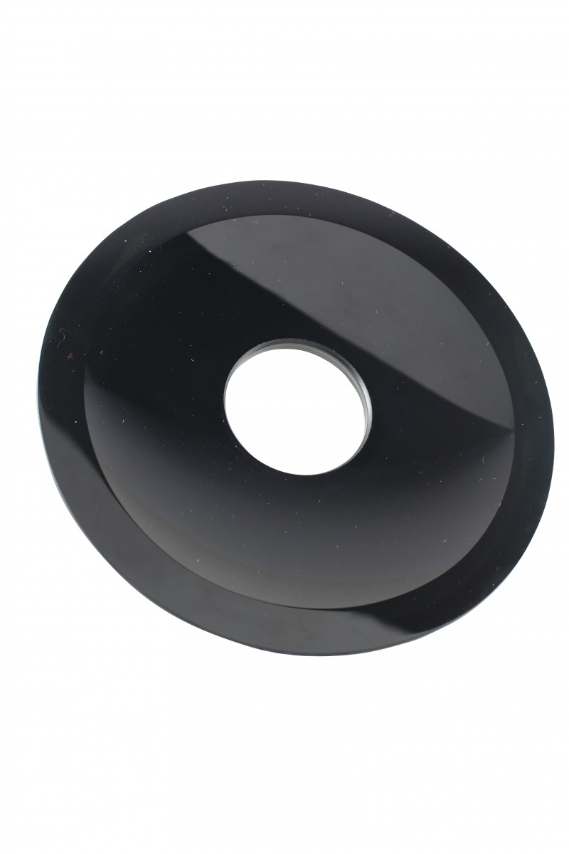 Waterfall Faucet Black Glass Disc Tray Plate