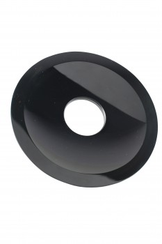 Replacement Waterfall Faucet Black Glass Disc Tray Plate   13929grid