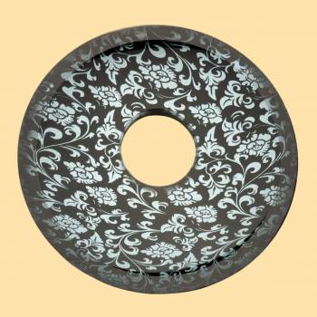 <PRE>Replacement Waterfall Faucet Glass Disc Plate Silver Flower </PRE>zoom2