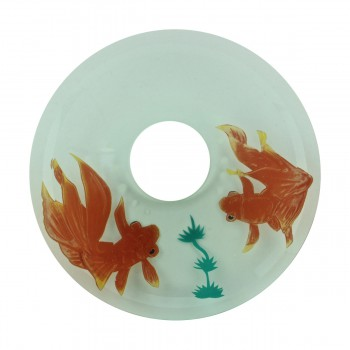 <PRE>Replacement Waterfall Faucet Glass Disc Tray Plate Koi Fish </PRE>zoom3