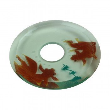 <PRE>Replacement Waterfall Faucet Glass Disc Tray Plate Koi Fish </PRE>zoom4
