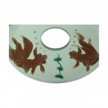 <PRE>Replacement Waterfall Faucet Glass Disc Tray Plate Koi Fish </PRE>zoom8