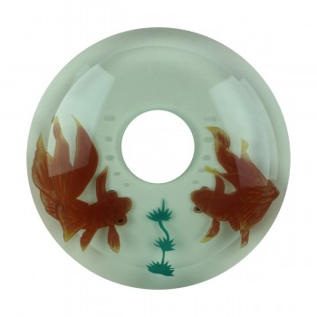 <PRE>Replacement Waterfall Faucet Glass Disc Tray Plate Koi Fish </PRE>zoom9
