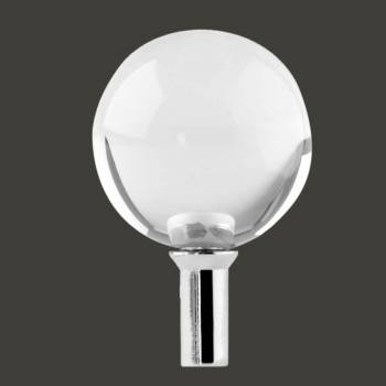<PRE>Bathroom Faucet Part Clear Glass Ball Knob 1 Handle Screw </PRE>zoom2