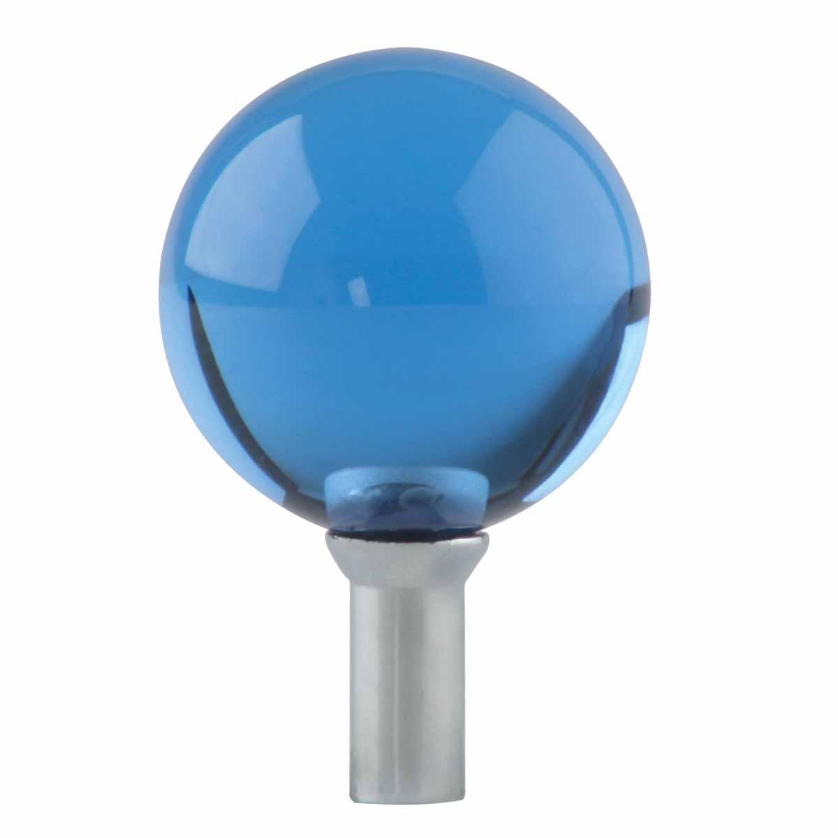 Bathroom faucet part blue glass ball knob lever handle