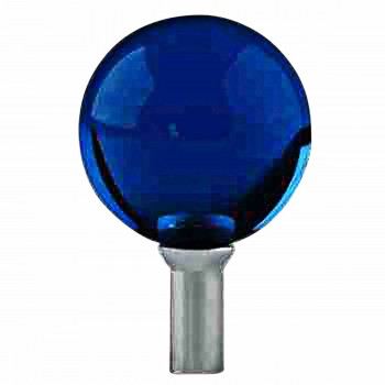 Bathroom Faucet Part Dark Blue Glass Ball Knob Replacement 13948grid
