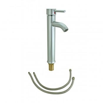 <PRE>Satin Nickel Single Hole Bathroom Sink Faucet 12inch H </PRE>zoom7