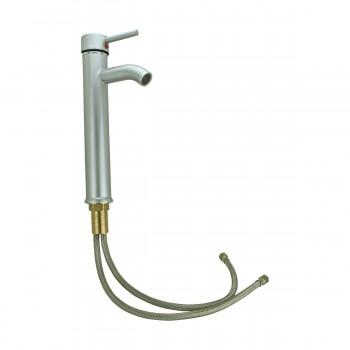 <PRE>Satin Nickel Single Hole Bathroom Sink Faucet 12inch H </PRE>zoom11