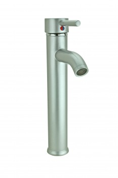 Satin Nickel Single Hole Bathroom Sink Faucet 12