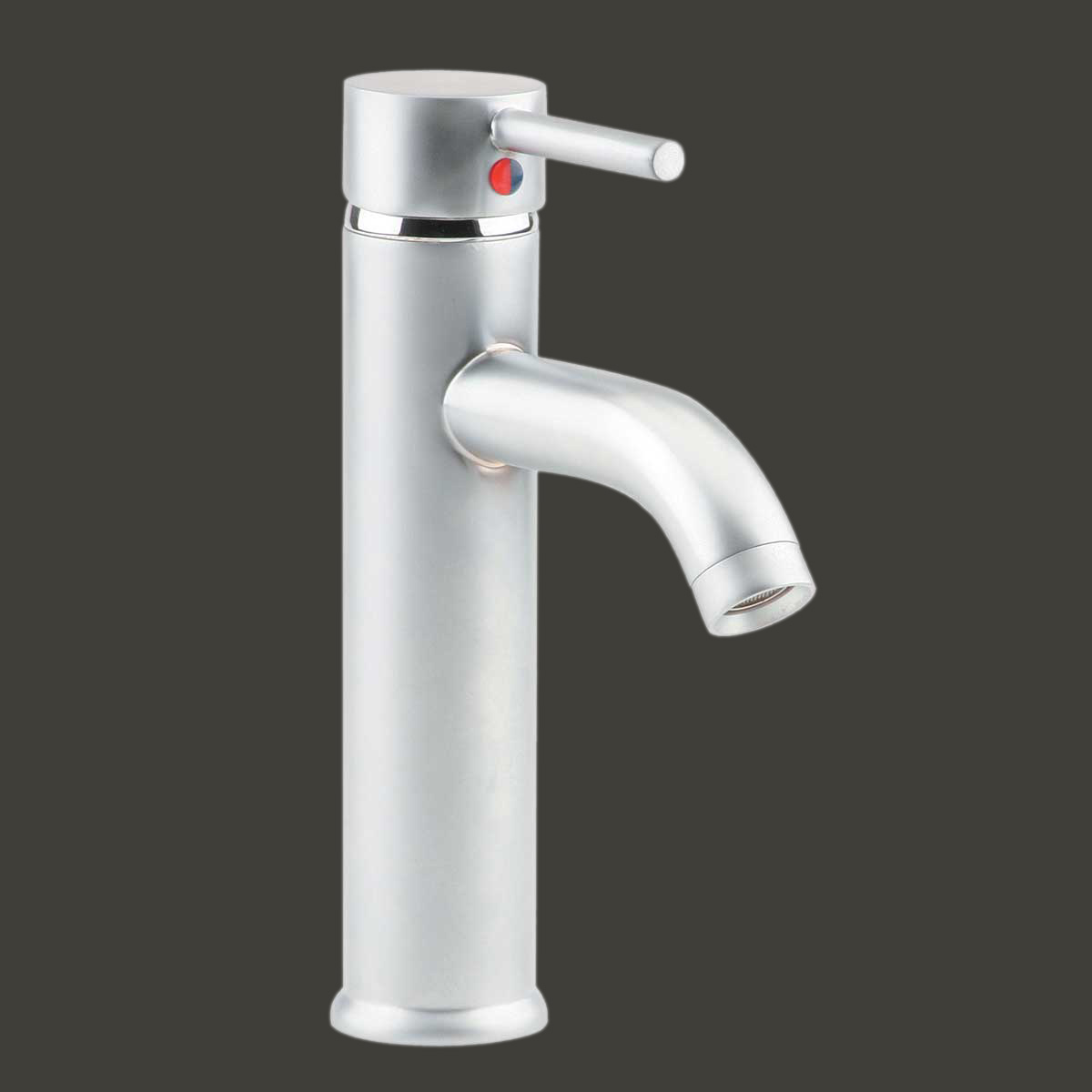 Satin Nickel Single Hole Bathroom Sink Faucet 9.5\