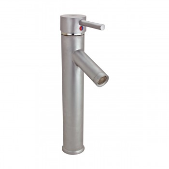 <PRE>Single Lever Faucet Brass Body with Satin Nickel Finish 11.75in. H </PRE>zoom4