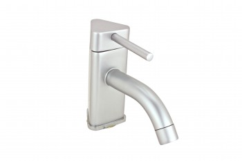 <PRE>Bathroom Faucet Satin Nickel Triangular Single Hole 1 Handle</PRE>zoom1