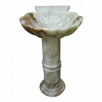 <PRE>Pedestal Bronze Swirl Onyx Hand Carved Onyx Pedestal Sink</PRE>