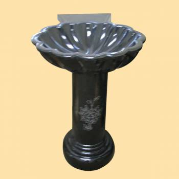 spec-<PRE>Pedestal Black Granite Hand Carved Granite Pedestal Sink</PRE>