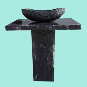 spec-<PRE>Marble Black/White Granite Hand Carved Granite Pedestal Sink</PRE>