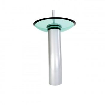 <PRE>Bathroom Waterfall Faucet Satin Nickel 12inchH Green Disk </PRE>zoom6