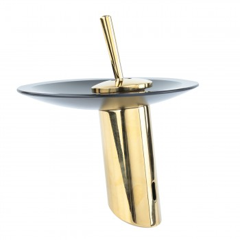 <PRE>Waterfall Faucet Heavy Cast PVD Brass 7inch H Glass Short </PRE>zoom4