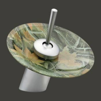 <PRE>Satin Nickel Waterfall Faucet 7in H Camouflage Disc </PRE>zoom2