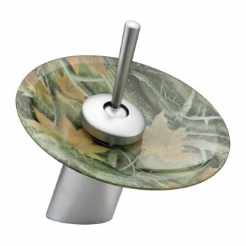 <PRE>Satin Nickel Waterfall Faucet 7in H Camouflage Disc </PRE>zoom1
