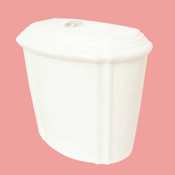 Toilets - Bone Sheffield Dual Flush Toilet Tank Only Top Flush by the Renovator's Supply