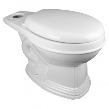 Round Toilet Bowl Only White Porcelain Classic White Toilet Bowl Toilet Bowl Only Vitreous China Toilet Bowl Only