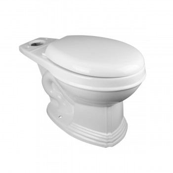 Round Toilet Bowl Only White China Classic