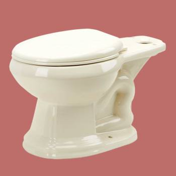 Toilets - Bone Sheffield Round Toilet Bowl Only for 13753 by the Renovator's Supply