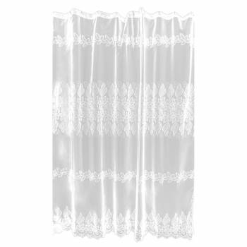 Lace Shower Curtain Victorian Floral Embroidered 72 x 72 14191grid