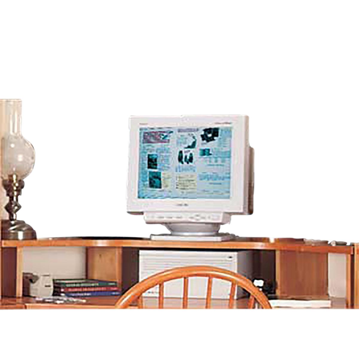 Delicieux ... U003cPREu003eOffice Corner Shelf Heirloom Pine Computer Monitor Shelf ...