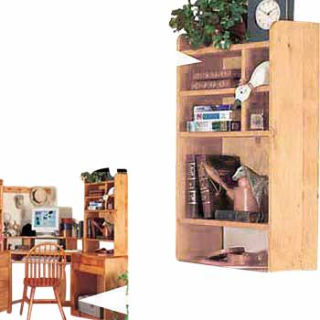 Wood Desktop Shelf Organizer Unit Unfinished Pine 22.5 Inches142110grid
