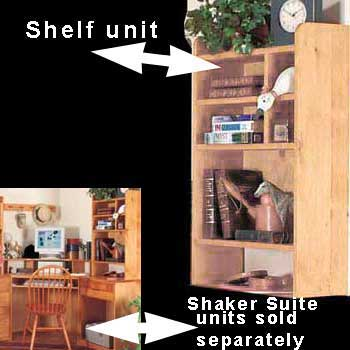 spec-<PRE>Wood Desktop Shelf Organizer Unit Unfinished Pine 22.5 Inches</PRE>