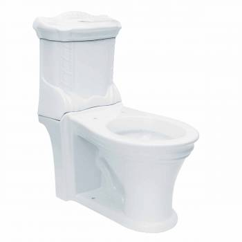Renovator's Supply White Ceramic Elongated Bathroom Toilet
