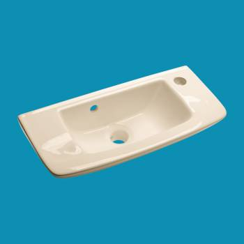 Edgewood Bone Wall Mount Sink - Glass sinks, Glass sink info & unique Glass accessories, quantity discounts on Glass sinks, Glass pedestal sinks, Glass wall mount sinks, Glass console sinks, counter top Glass sinks, Glass counter top sinks, Glass pedestal sinks, bathroom fixtures, Glass bathroom sinks, sink faucets & free shipping by Renovator's Supply.
