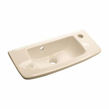 Small Wall Mount Vessel Sink Grade A Vitreous China Scratch and Stain Resistant14230grid