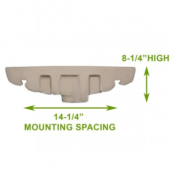 spec-<PRE>Small Wall Mount Vessel Sink Grade A Vitreous China Scratch and Stain Resistant</PRE>