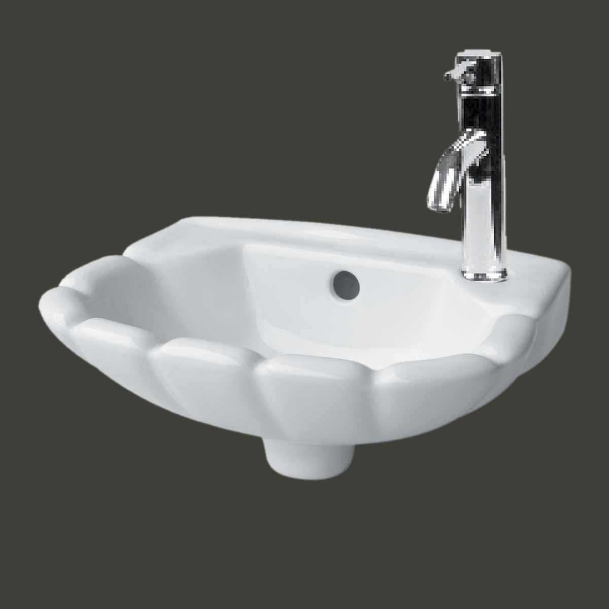 Small wall mounted bathroom sinks -  Pre Small Wall Mount Bathroom Hung White Periwinkle 14