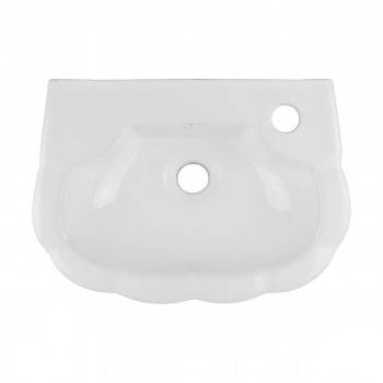 Small Hung White Periwinkle Wall Mount Bathroom Sink Bathroom Wall Mount Sinks Modern White Bathroom Sink Vitreous China Bathroom Sinks