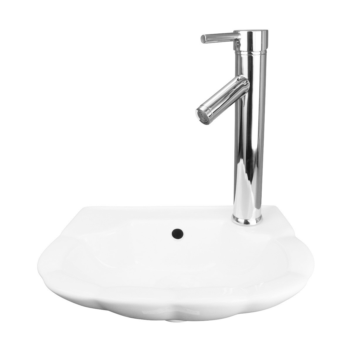 White Periwinkle Wall Hung Sink Renovators Supply 39 S Modern Wall Hung Basin