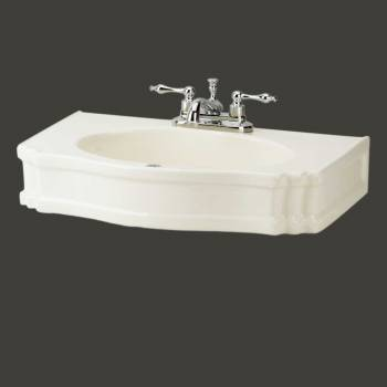 spec-<PRE>Bathroom Pedestal Sink Biscuit Porcelain Centerset Top Only </PRE>
