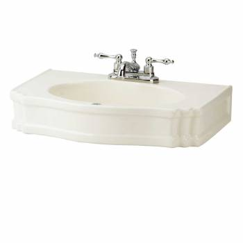 Bathroom Pedestal Sink Biscuit Porcelain Centerset Top Only Rectangle Pedestal Sinks Top Only Classic Bathroom Pedestal Sinks Top Centerset Pedestal Top Only