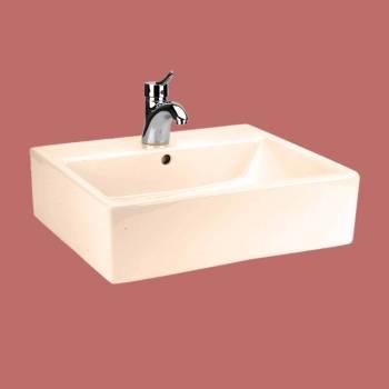 Bathroom Vessel Sink Square Bone China