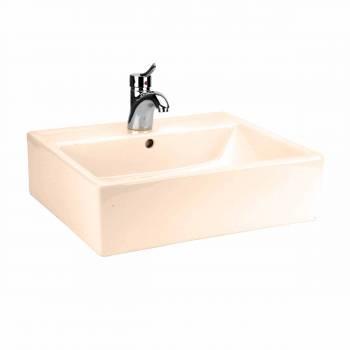 Bathroom Vessel Sink Square Bone China 14247grid