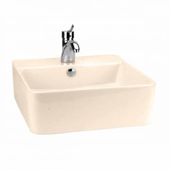 Bathroom Vessel Sink Square London Bone China