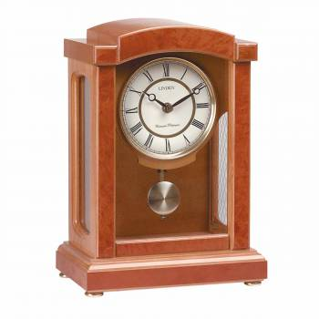 Parisian Pendulum Clock Wood w/ Walnut Finish