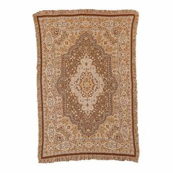Victorian Cotton Throw Beige 45