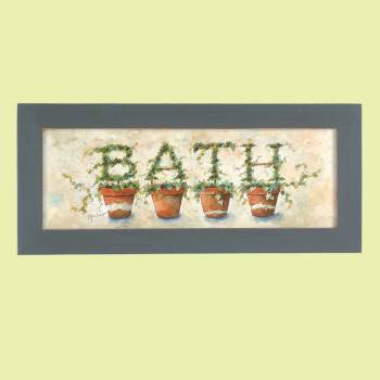 <PRE>Wall Hanging Print Crackle Wood Ivy Topiary  8.5inchH </PRE>zoom2