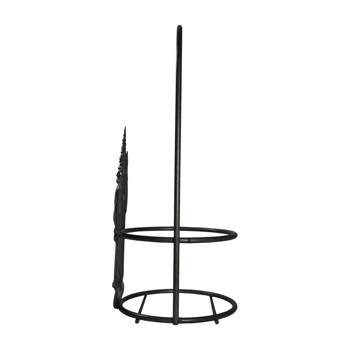 Candle Holder Grey Wrought Iron 10.5H x 4.5D Candle Holders Candle Holder Jar Candle Holder