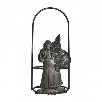 <PRE>Candle Holder Grey Wrought Iron 10.5inchH x 4.5&quot;D </PRE>zoom6