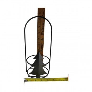 <PRE>Candle Holder Grey Wrought Iron 10.5inchH x 4.5&quot;D </PRE>zoom9