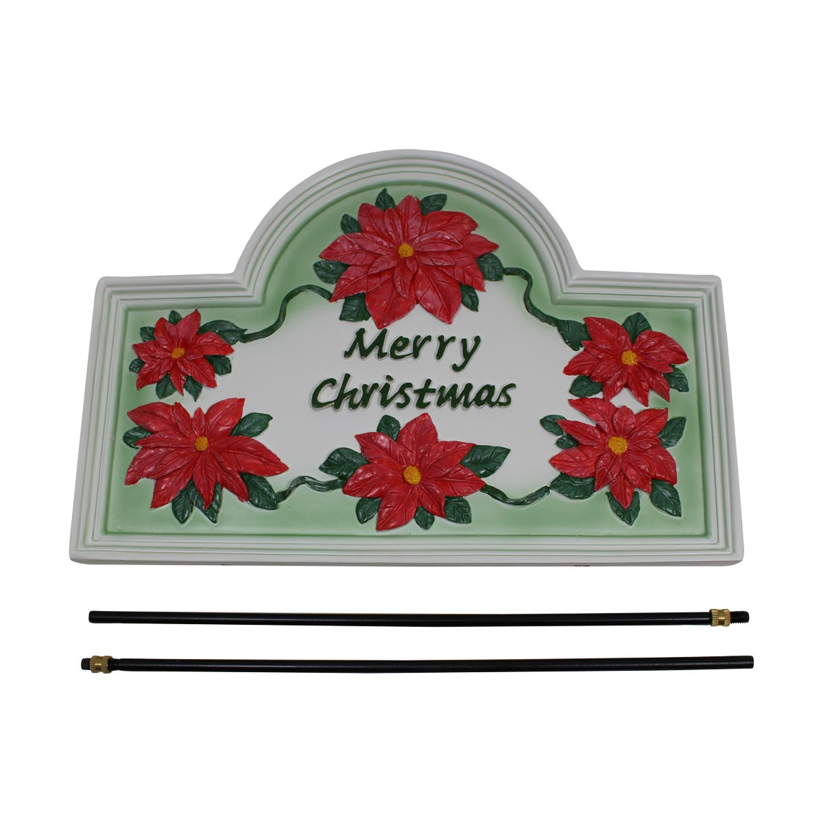 Plaque White Cast Metal Christmas With Stand Christmas Plaque Christmas Decor With Stand Holiday Plaque